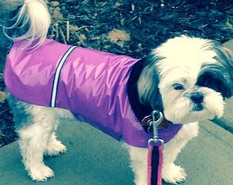 New Lavender Dog Rain Jacket, Dog Rainjacket, Dog Jacket, Dog Coat, Dog Jackets