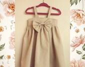 Linen bow dress
