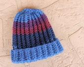 Little Kid's Beanie Hat, Handknit Woolen Hat