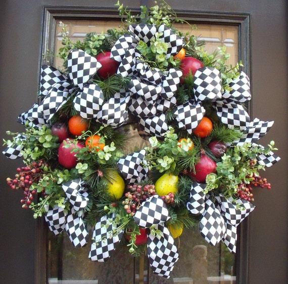 Williamsburg Wreath Fruit Wreath Christmas Wreaths Holiday