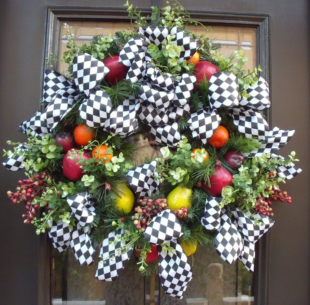 Williamsburg Christmas Decorating Ideas: Williamsburg Wreath Fruit Wreath Christmas Wreaths Holiday
