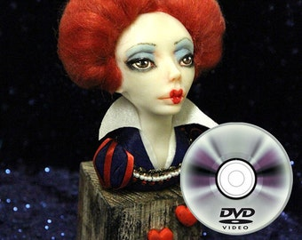 Making a Doll Class Red Queen Art Doll Bust Class on DVD self paced 9 video lessons with PDF additional materials