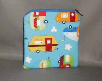 Coin Purse - Gift Card Holder - Card Case -Small Padded Zippered Pouch - Mini Wallet - Campers - RV - Motor Home