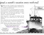 Vintage Elco Boats Ad 1926 print