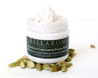 Coconut Cardamom FACIAL SCRUB- As Seen In GBK's Primetime Emmy Awards Celebrity Gift Bags