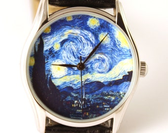 Van Gogh Starry Night Watch, Classical Wrist Watch, Watches, Wristwatch, Ladies Watch, Anniversary Gift, Gift Idea