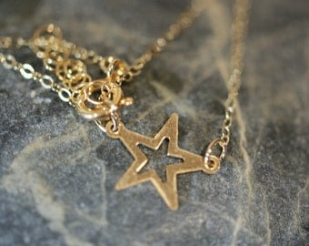 14K Gold Filled Star Pendant on a 14K Gold Filled Cable Chain