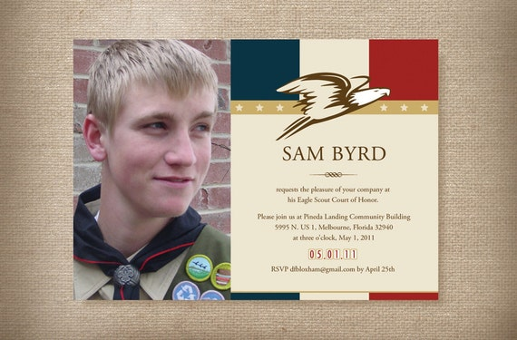 Eagle Scout Invitations for Court of Honor Card American