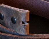 """Interchangeable Fawn Brown Full Grain Leather Belt 1-1/2"""" or 1-1/4""""  Unisex Leather Belt Made in Canada Custom Cut to Fit Your Waist Size"""