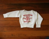 vintage baby sweater wisconsin badger sweatshirt college