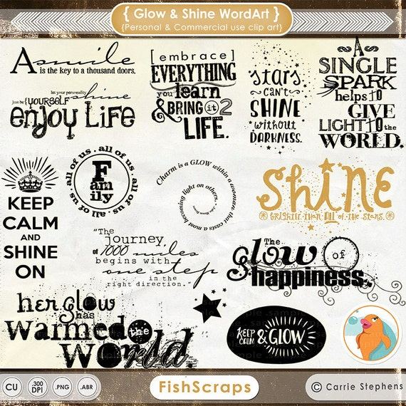 digital word art glow and shine wordart motivational