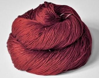 Burning terracotta OOAK - Silk Lace Yarn