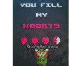Link Zelda cross stitch PATTERN