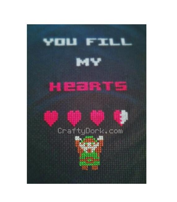 Link Zelda cross stitch PATTERN