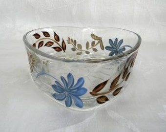 Candy dish, hand painted heart shaped dish, contemporary design