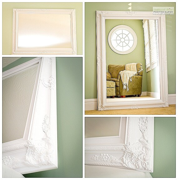 Hollywood Regency Mirror White For Sale Vintage Inspired Extra