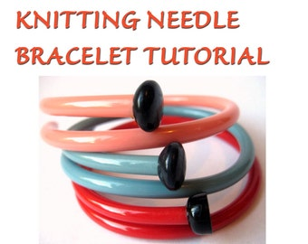 Vintage Knitting Needle Bracelets Tutorial SewNewThings PDF Digital Files INSTANT DOWNLOAD Make your own upcycled knitter's gifts