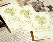 From the Well-Beloved Vineyard on a Very Fruitful Hill - WINE LOVER - Letterpress Bookplates - Set of 25