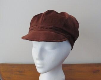 Newsboy Cap Newsboy Hat Brown Corduroy Cap Brown Corduroy Hat
