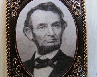 Reproduction Civil War Lincoln Gold Gem Frame