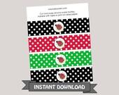 Ladybug Water Bottle Labels ~ Instant Download ~ Printable
