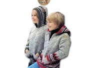Nordic Hoodie Circa 1976 Zipper Front Fair Isle hooded Jacket Pattern to Knit for Children - PDF Instant Download - EnglishPreserves
