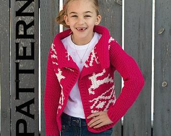 Jumping Reindeer Cardigan Crochet Pattern - PDF