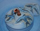 "Pet Fountain, Cat Fountain, Indoor Fountain -  Food safe, Ceramic - 10 Inch Diameter - ""Raven"""