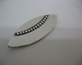 Hand Crafted Sterling Silver Brooch in Modernist Style