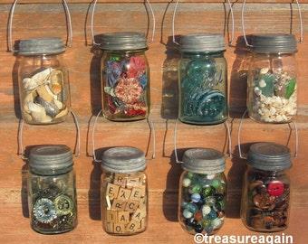 Hanging Mason Jar Zinc Lids Rustic Mason Jar Decor Vintage Zinc Lids with Hangers, No Jars