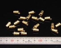 8pcs - plated matt gold brass part findings