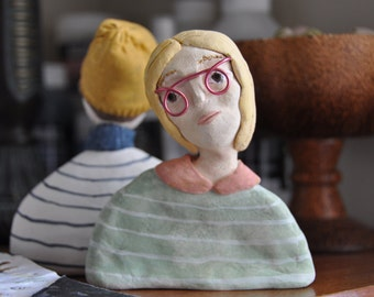 Maeve   Spectacles Series   Creative Paperclay Sculpture