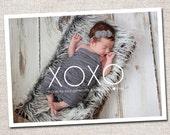 Photo Baby Thank You Card: PRINTABLE (XOXO Baby Gift Thank You Card)