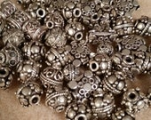 HUGE lot of Mixed Bali Silver Beads 111 grams