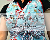 Retro Ripple Apron PRINTED Sewing Pattern