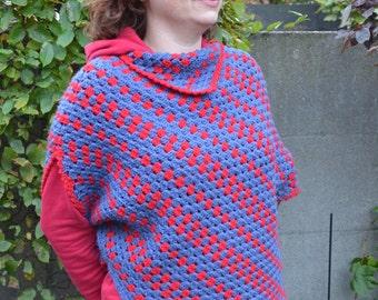 Crochet pattern : feel happy poncho for women