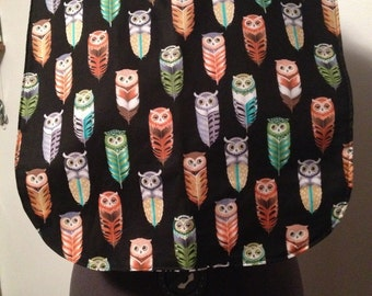 "Adult clothing bib protector 24"" long, the owl"