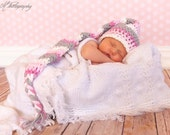 Crochet Pattern- Newborn Photo Prop. Newborn Elf hat. Baby Hat Crochet Pattern. Newborn Crochet Hat Pattern