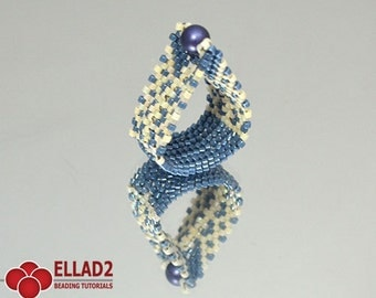 Tutorial Eligia Ring  - Beading Tutorial,Beading Pattern,Pdf file, Instant download,Jewelry Tutorials