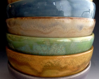 New Six Earthy colors, Soup/Cereal bowls, stoneware bowls, by Leslie Freeman