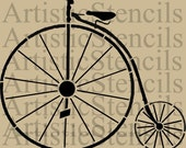 STENCIL Bicycle - Vintage Old Fashioned   7.3 X 8.7