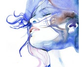 Archival Quality Prints of Watercolour Fashion Illustration. Titled: Eva
