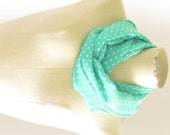 Mint Green Scarf - Green Polka Dot Scarf - Green Infinity Scarf
