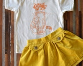 Organic Cotton Toddler Shirt - Screen Printed American Apparel Kids T Shirt - Kitty Cat - Soft Toddler Tee - Kids Clothes - You pick size