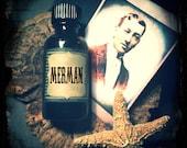 MERMAN (primary notes:  sandalwood, ylang ylang, amber, pepper, sea salt) Hand Blended Artisan Oil-Perfume, Cologne