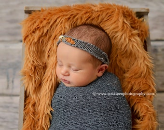 Mustard Yellow Mongolian Faux Fur Nest Photography Prop Rug Newborn Baby Toddler
