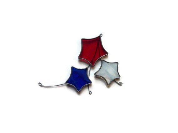 Stained Glass Shooting Stars Suncatcher Ornament