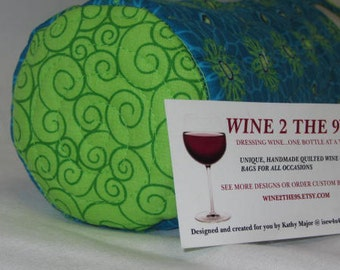 Wine Tote Bag Spring Flowers Hostess Gift Reuseable Wine Bag Gift Under 20