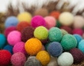 200 felted balls,15 mm MultiColor more than 45 different colors