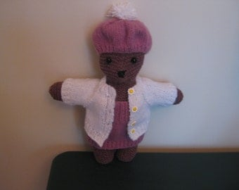 Knitted Bear Handmade 14 Inches Tall